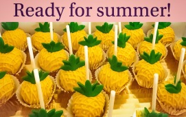 Pineapples on a stick