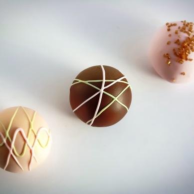Rosy Gold Cake Balls