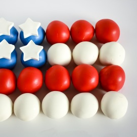 American Flag Cake Balls