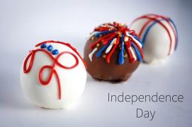Independence Day Cake Balls