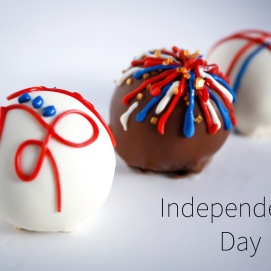 Independence Day Cake Balls